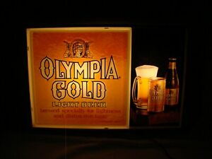 Olympia gold beer sign
