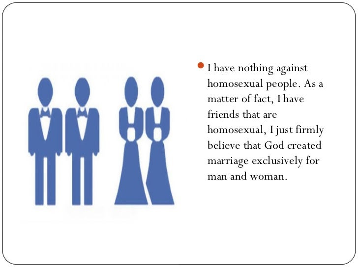 Same sex marriage should not be legalized