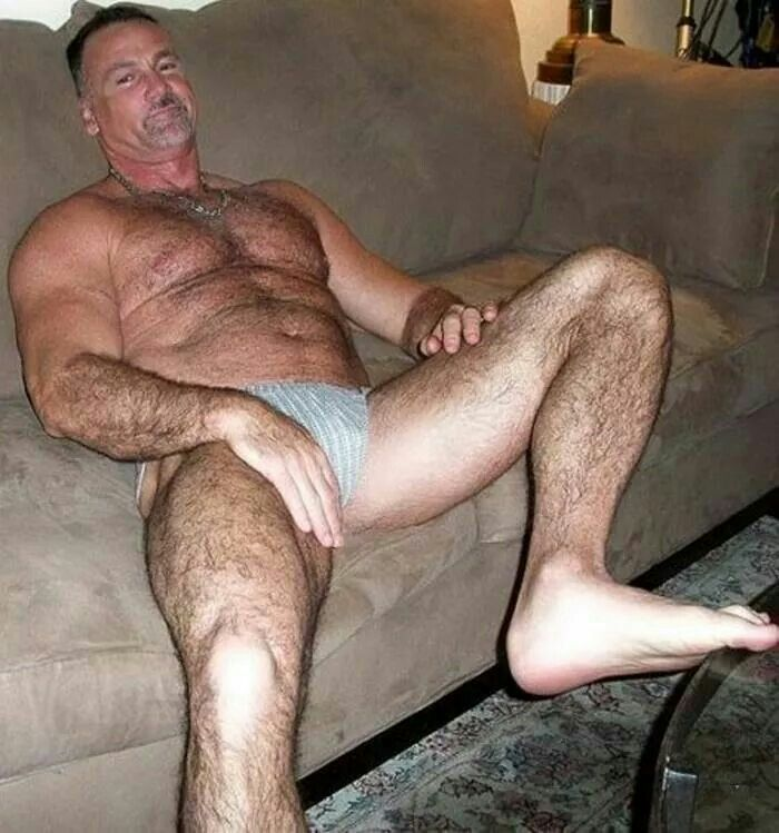 Mature gay daddy naked